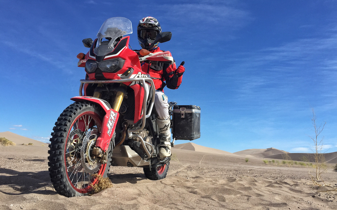 ADV Moto Are There Any Characteristics That Have Carried Over From Hondas Off Road Racing Experience To The Africa Twin