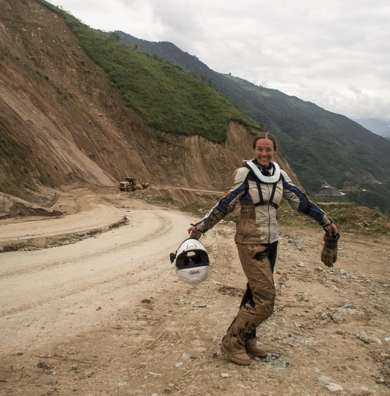 Mud spill after a land slide in Ecuador