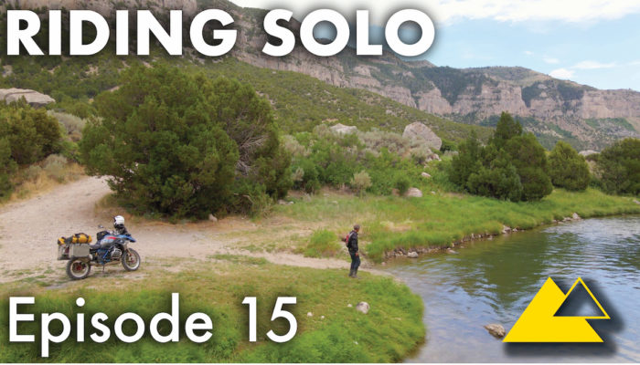 Riding Solo Part 15 – Late Night Motorcycle Campfire Cooking in Wyoming