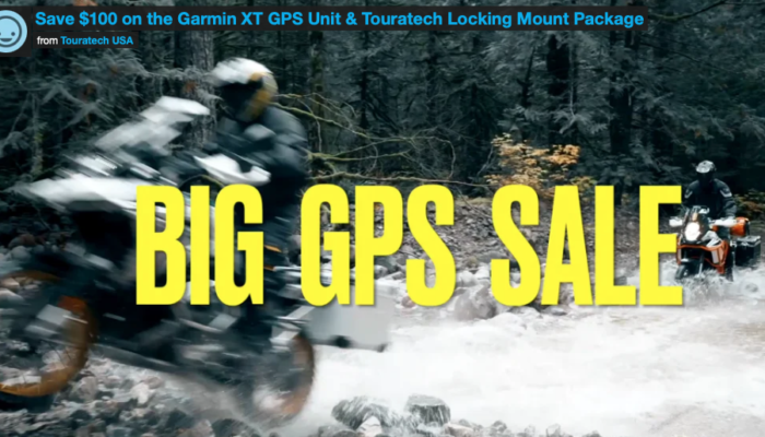 Save $100 on Zumo XT/Touratech Locking Mount Package for a Limited time